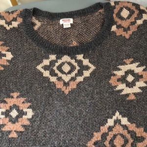 Mossimo XXL Grey Rose Gold Metallic Sweater